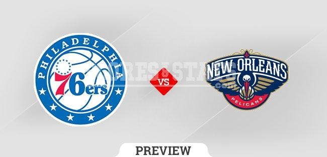 Palpite New Orleans Pelicans vs. Philadelphia 76ers 20 Oct 2021