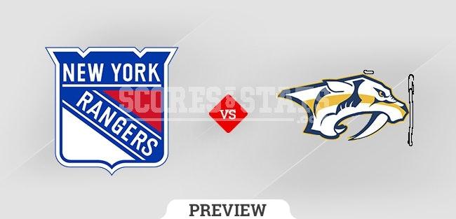 Palpite Nashville Predators vs. New York Rangers 21 Oct 2021